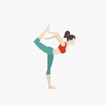 yoga posture vectorart