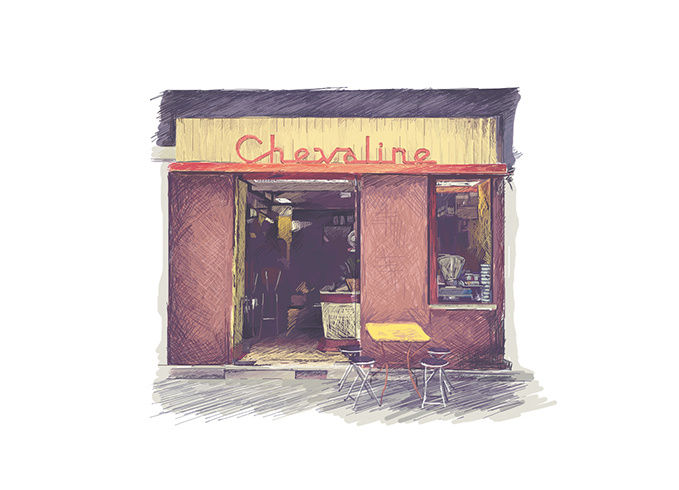 chevaline, illustration, boucherie, rue de la roquette, paris