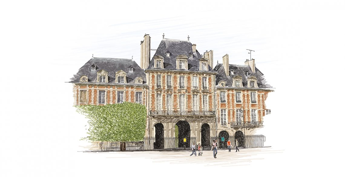 place-des-vosges-illustration-paris