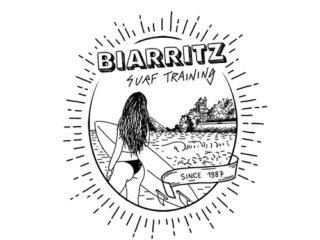 T-shirt d'une école de surf